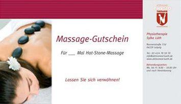Massage Gutschein Leipzig